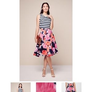 Eliza J floral print midi skirt